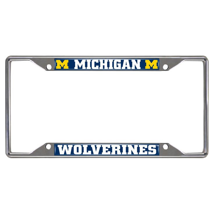 NCAA License Plate Frame University of Michigan, Michigan Wolverines