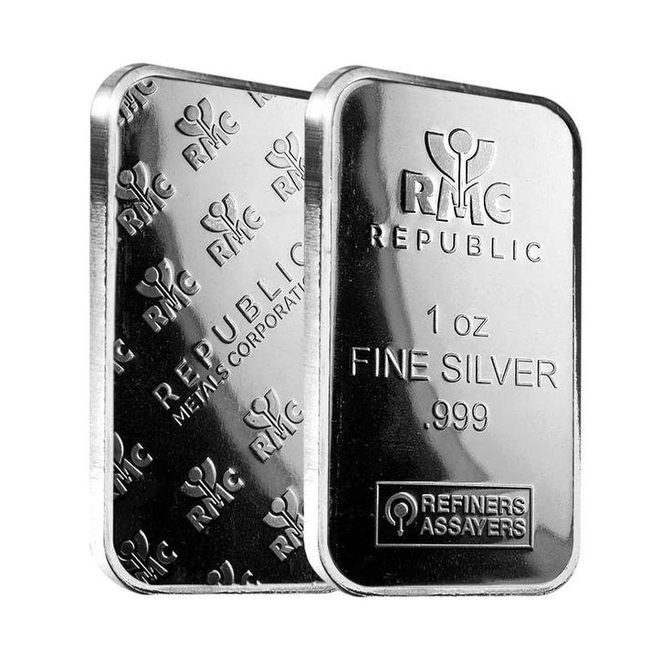 1 oz Republic Metals (RMC) Silver Bar .999 Fine