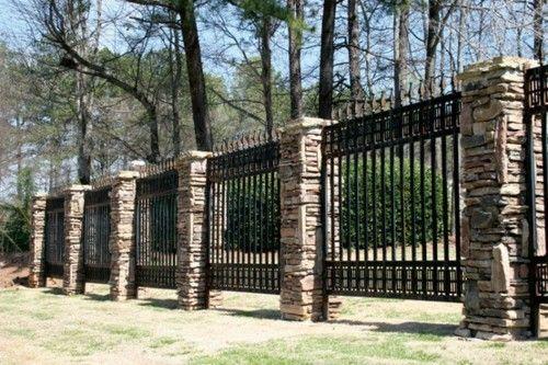 Stone Fence Pillars : Best images about stone fences on pinterest nice