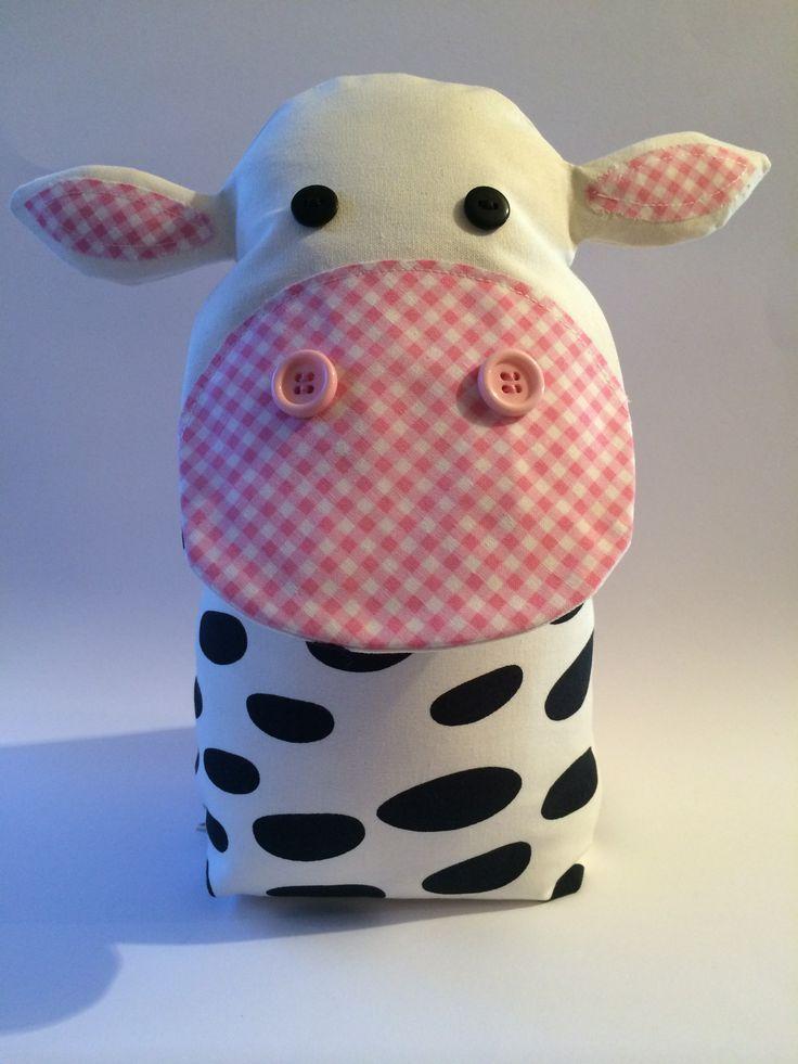 Handmade cute cow door stop taken from facebook page a bundle of crafts please pop over say - Cute door stoppers ...