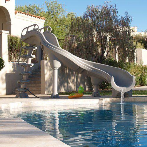 adrenaline in ground pool water slide