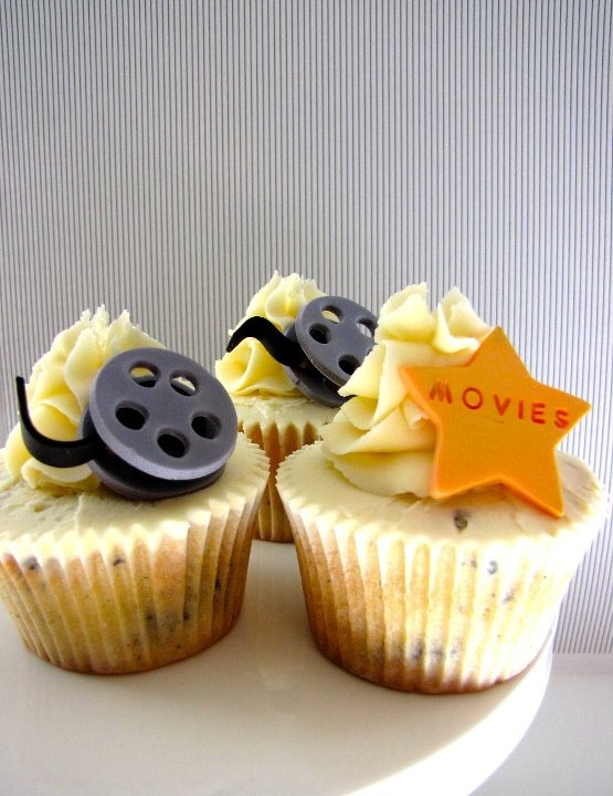 Movie theme cupcakes