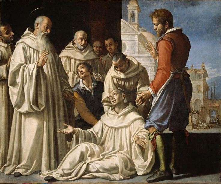 GIOVANNI BATTISTA BRACELLI SAN BENITO RESUCITA UN MONJE 1620-21