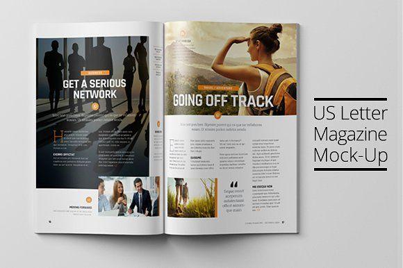 US Letter Magazine Mock-Up by PositivePixels on @creativemarket