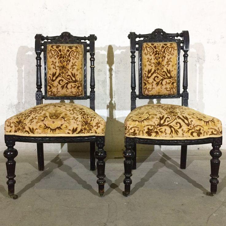 Антикварные русские стулья. Санкт-Петербург, 1903 год. Цена за пару 30000 рублей