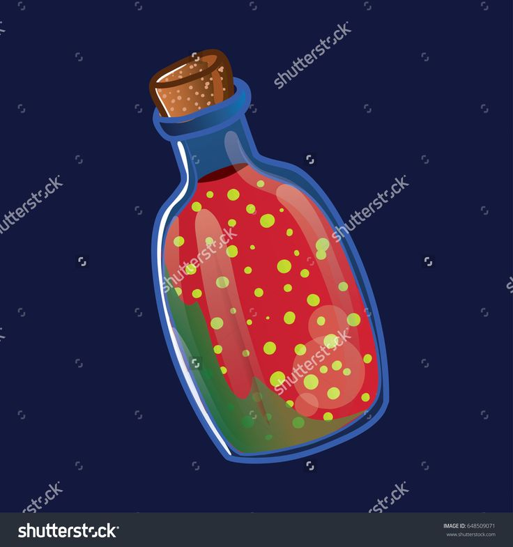 Watermelon juice Potion vector Illustration on Bottle