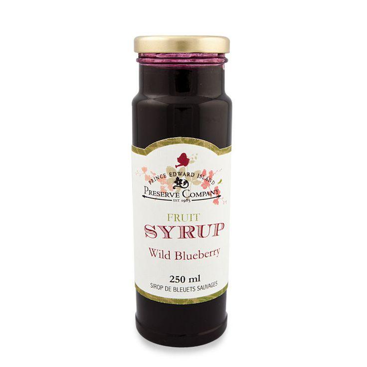 Wild Blueberry Fruit Syrup