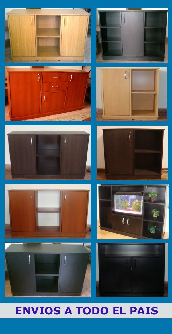 Mueble Acuario 150x50x30 Mainar Con Tapa En Madera Y Leds - $ 10.900,00