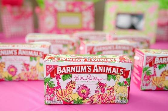 PREPPY FASHION COMPANY LILLY PULITZER HAS DESIGNED LIMITED EDITION BOXES OF NABISCO BRAND BARNUM€�S ANIMALS CRACKERS. WITH NABISCO€�S PARENT COMPANY KRAFT FOODS, THEY RECENTLY RELEASED 2 MILLION OF THESE SIGNATURE PRINT BOXES TO BRING AWARENESS TO THE ISSUE OF CHILDREN WORLDWIDE WHO €�CAN€�T SMILE BECAUSE OF FACIAL DEFORMITIES.€� AS PART OF THIS CAMPAIGN, MONEY WILL BE DONATED TO OPERATION SMILE, AN INTERNATIONAL CHARITY ORGANIZATION THAT WILL HELP THESE CHILDREN GET CORRECTIVE SURGERIES.