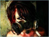 Mujeres con Máscaras de Gas
