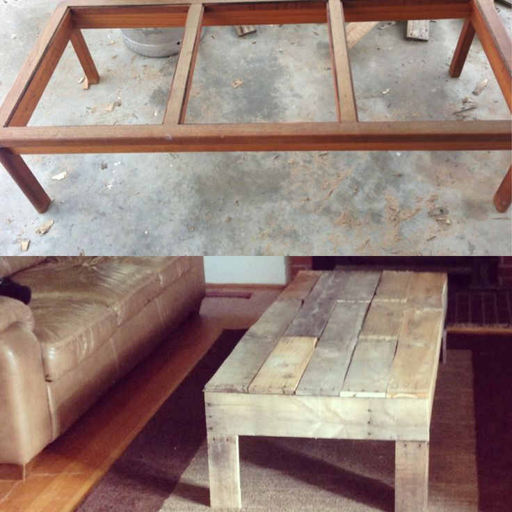 pallet coffee table makeover