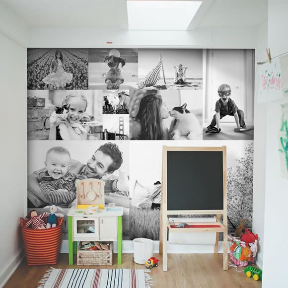 Decorating with Peel-and-Stick Fabric Posters: They're affordable, they don't ruin your walls, and no toxic vinyl smell.