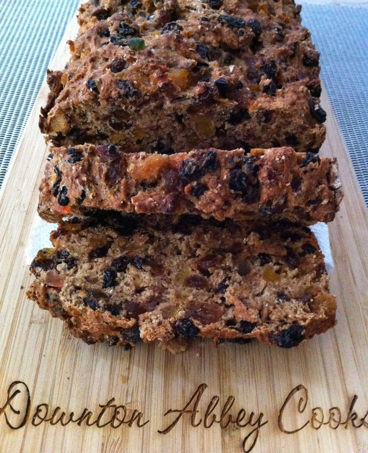 There are two ways to make barnbrack, as a yeast or quick bread. This is the quick bread recipe with lots of dried fruit which makes a hearty fruit bread to disguise the charms.
