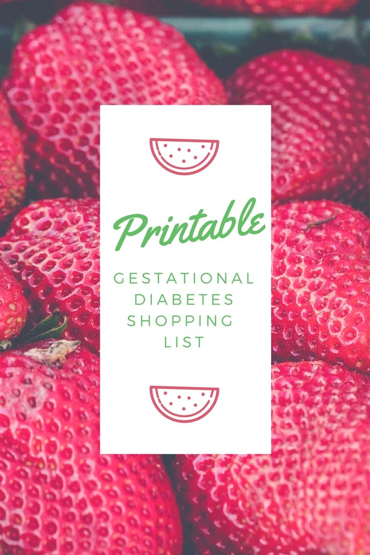 PRINTABLE: Low carb shopping list to make gestational diabetes that much easier for you.