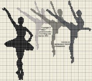 Borduurpatroon Hobby & Sport Kruissteek *Cross Stitch Pattern  ~Ballet~