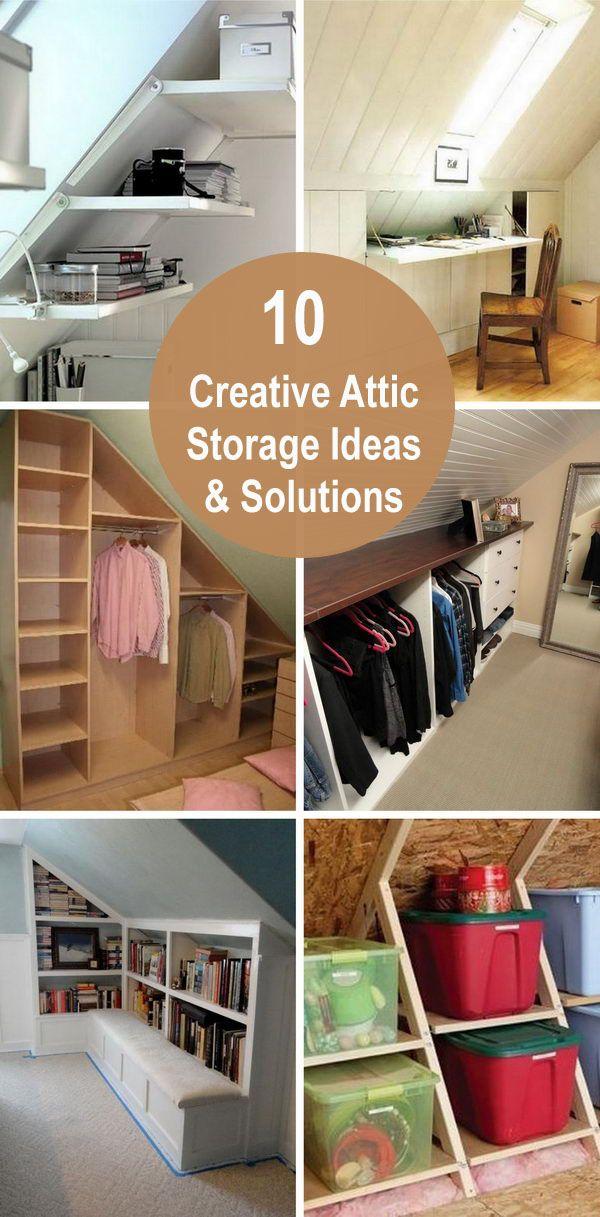 Creative Attic Storage Ideas And Solutions Attic Storage Attic