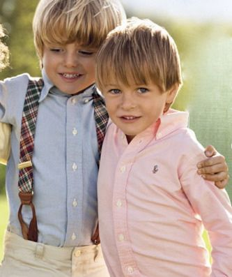 I can't wait to dress my little blonde haired  boys preppy