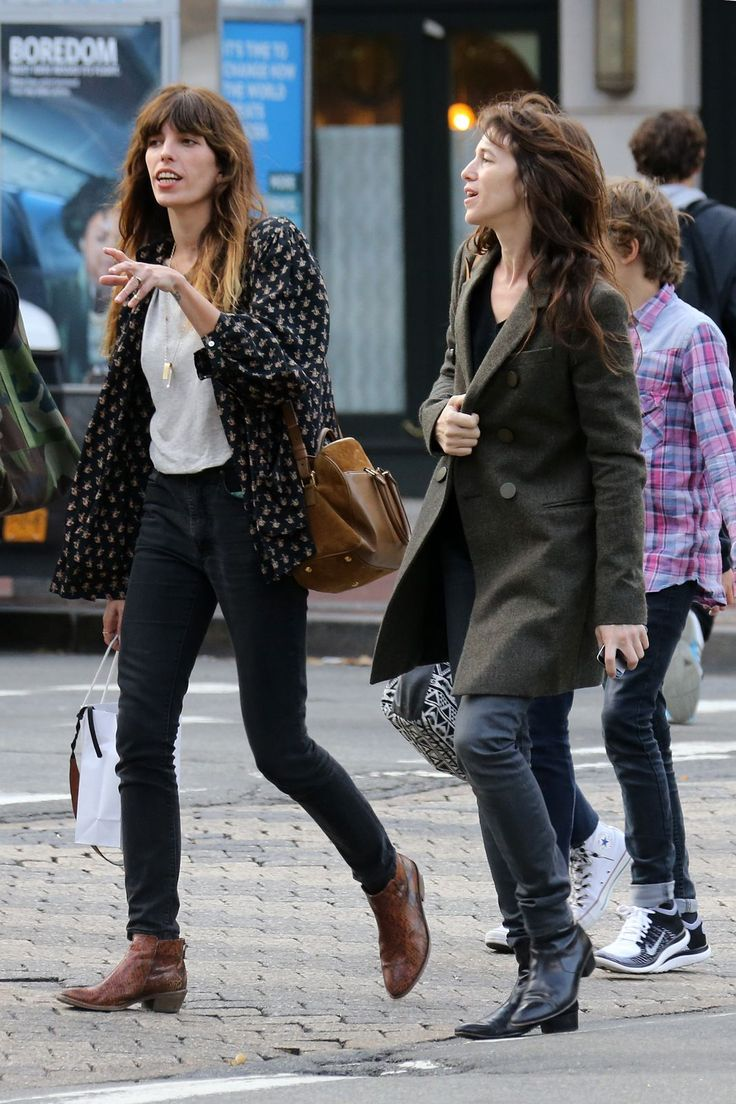 19 Sets Of Cool Siblings Who Prove Style Runs Deep #refinery29 http://www.refinery29.com/fashionable-celebrity-siblings#slide-10 Lou Doillon & Charlotte GainsbourgWe admire the casual, effortless, don't-give-a-damn approach to style taken by this French half-sister duo. What else would you expect from the daughters of Jane Birkin?