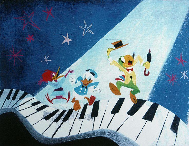 Mary Blair conceptual art for The Three Caballeros