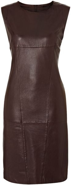 Vallo Short Sleeve Leather Dress - Lyst (Weekend by Maxmara)