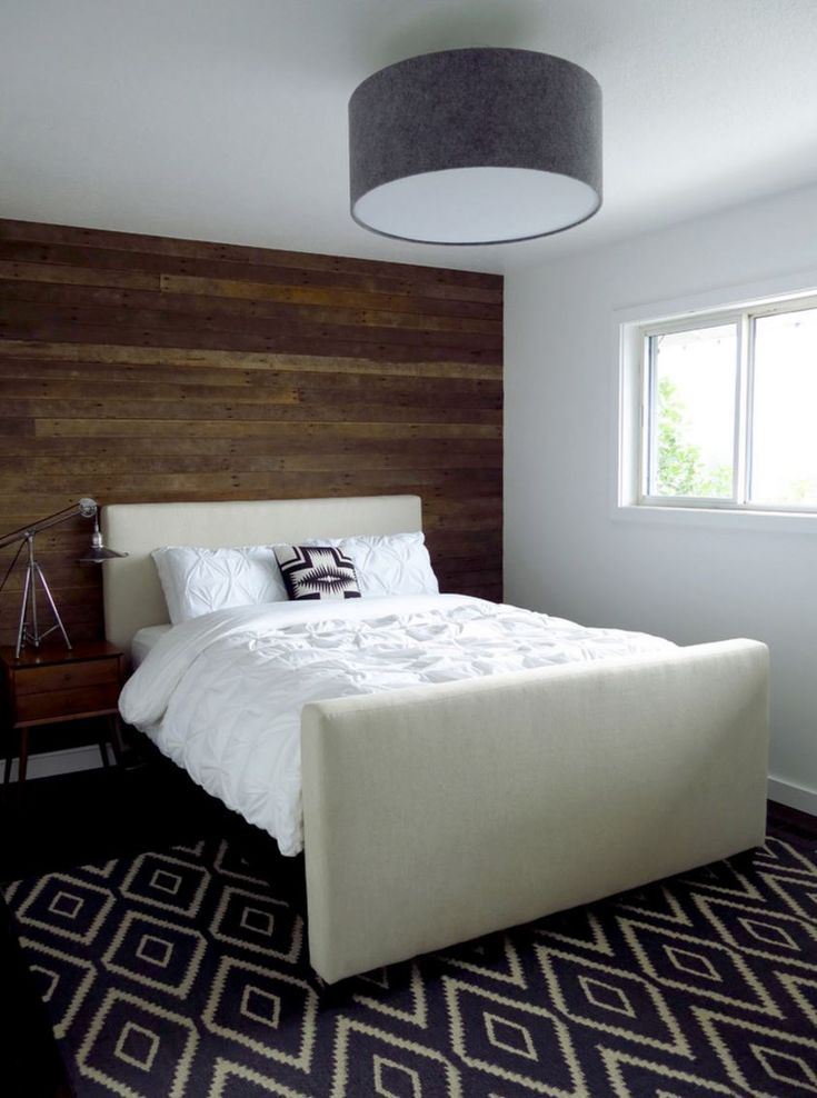 Accent Wall Of Reclaimed Wood