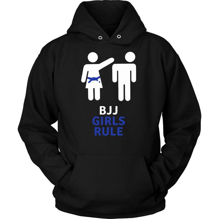 Show how much you love Brazilian Jiu Jitsu wearing BJJ Girls Rule. Check more Brazilian Jiu Jitsu t-shirts. If you want different color, style or have idea for design contact us we can help you! suppo