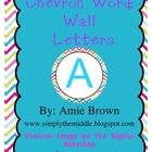 Chevron word wall letters!  A great addition to your bright chevron classroom decor!  I used these as word wall letters.  After printing, I attached ribbon to the back of each...