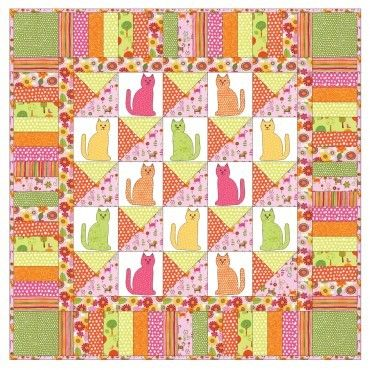 375 best Quilts - Cats images on Pinterest | Kid quilts, Cat and Cats : free cat quilt patterns download - Adamdwight.com