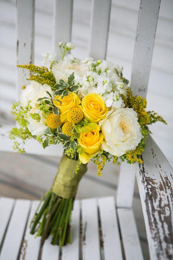 Yellow & White Wedding Bouquet