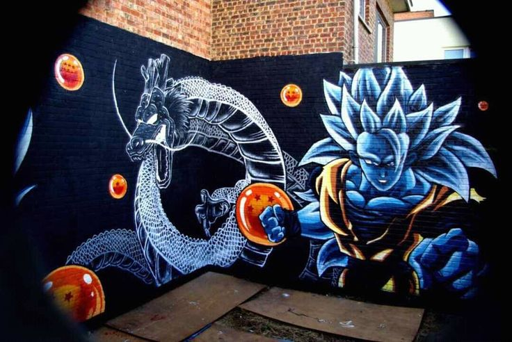 "731 Likes, 2 Comments - DB/DBZ/GT/SUPER FANS (@db_dbz_gt_super__fans) on Instagram: ""#awesome #graffiti #ssj3 #shenron #black #dragonball"""