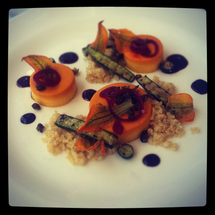 Bathers Pavillion Balmoral - pumpkin tofu with quinoa and zucchini flowers