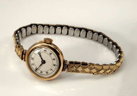 Vintage Ladies Gold Watch  Excalibur Harrods by BelmontandBellamy