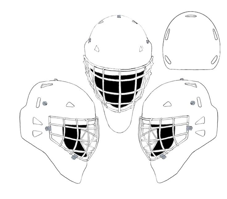 17 best images about coloriage hockey on pinterest ice for Bauer goalie mask template