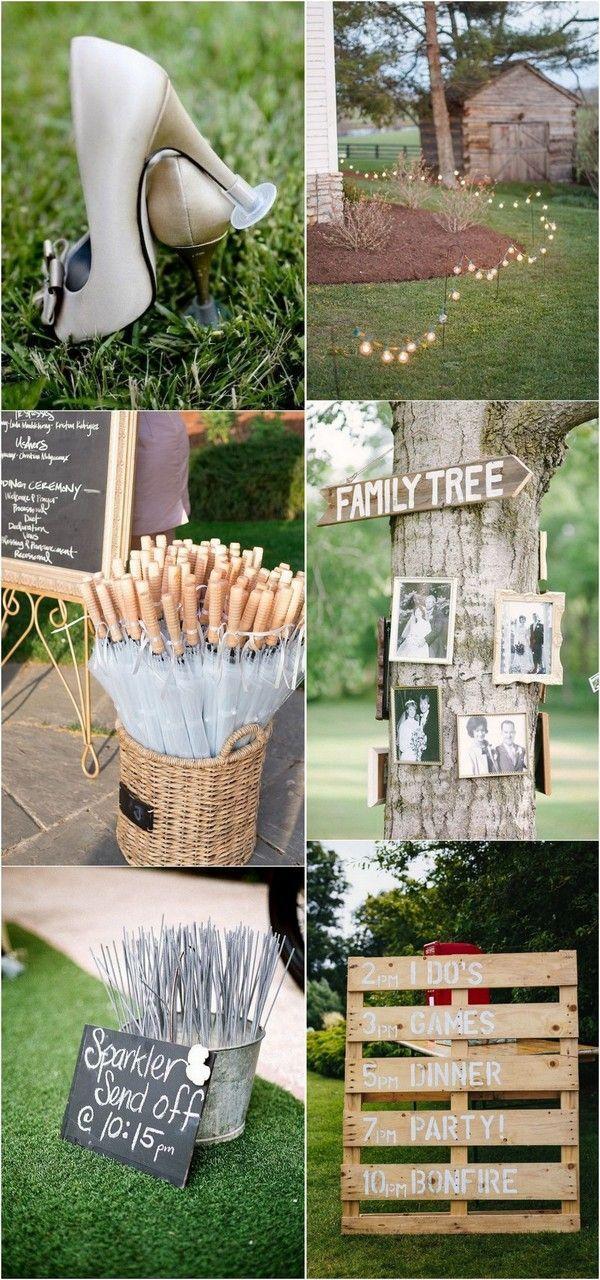 Hinterhof Hochzeit Ideen für Hochzeit #Hochzeitsdekoration #Hochzeitsinspiration