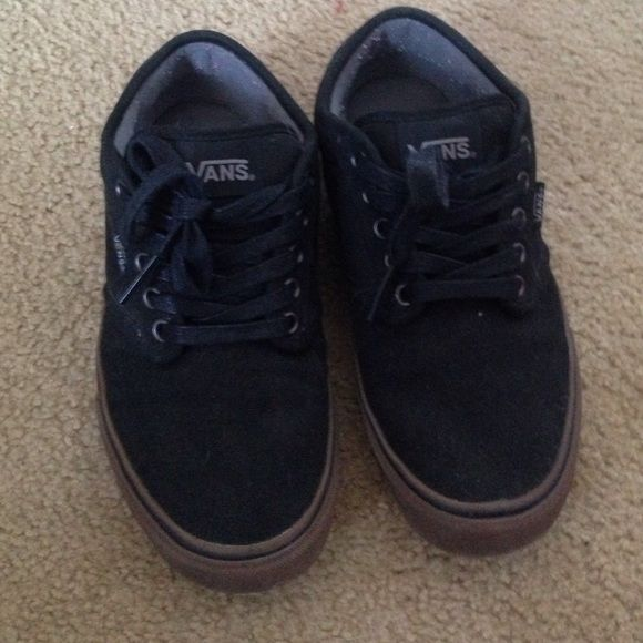 Boys vans, worn once, great condition Black boys vans in new condition only worn once Vans Shoes Sneakers