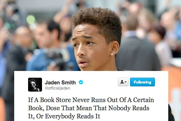 Jaden Smith on Book stores.
