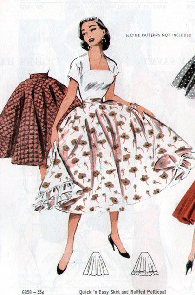 Butterick 6858 Poodle SkirtsPattern