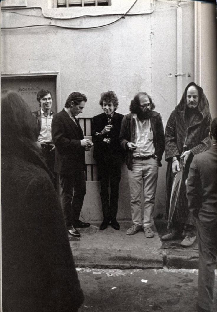 Robbie Robertson, Bob Dylan, Allen Ginsberg & Lawrence Ferlinghetti, among others