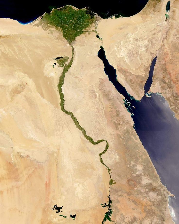 """The Nile River is commonly regarded as the longest river in the world, flowing for 4,258 miles (6,853 km) over 11 countries in northeastern Africa. In this Overview, it is shown flowing north through Egypt, forming a large triangular delta before emptying into the Mediterranean Sea. Civilizations since ancient times have depended on the waters of the Nile to flood and fertilize surrounding desert lands.  Instagram: https://bit.ly/2H2SBtZ  29°20'11.0""""N, 31°13'28.8""""E  Source imagery: NASA…"""