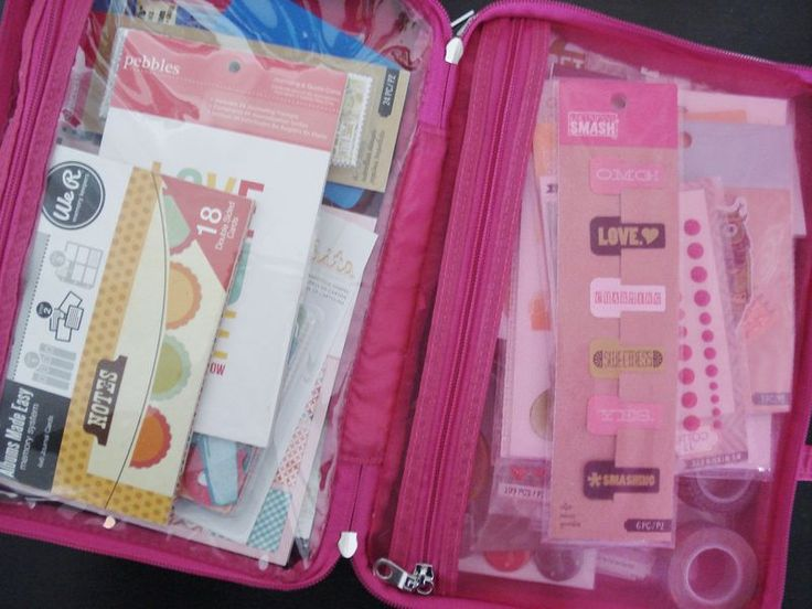 Smashbook travel pack, created by Iowa Jewel.  ~  scrapbooking journal journaling vacation cosmetics bag