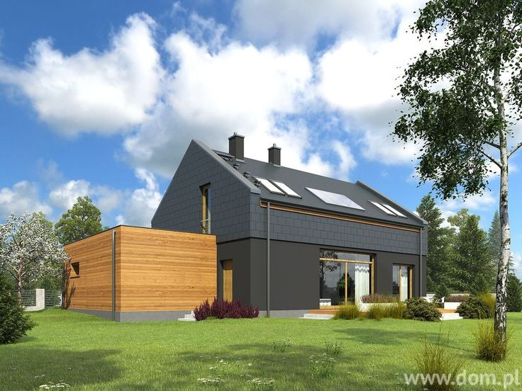Nowoczesne stodoły zaplanowane są jako projekty domów tanich w eksploatacji.Projekt domu DCE ORZECHOWY CE