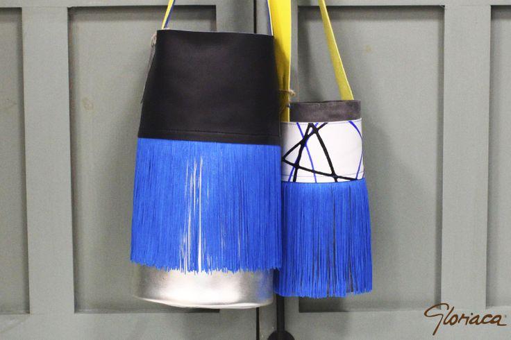 Gloriacas Piel Colección Eléctrica Bandolera Bag Minicubo