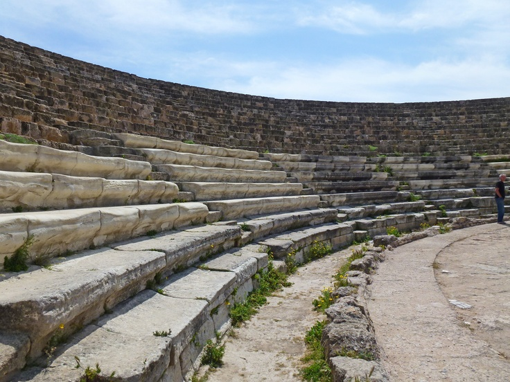 Theatre, ruins of ancient Salamis, 6 kms north of the port of Famagusta, North Cyprus.