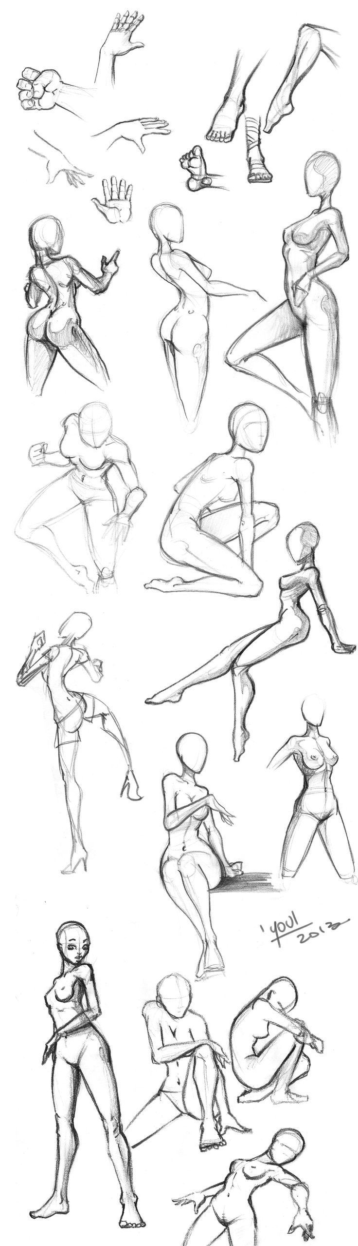 Youl Sketches Juin2013 Poses by YoulDesign