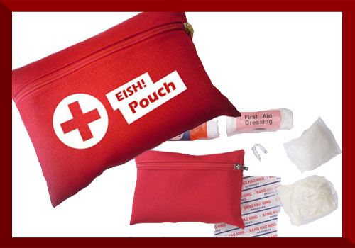 Mini First Aid Kit   Dimensions: 15 x 11cm  2 x Safety Pins 1 x Mini Cotton Wool Roll 1 x CPR Mouth Piece 1 x Pair Examination Gloves 4 x Plaster Strips 1 x First Aid Dressing No. 3 1 x 50ml Antiseptic Solution