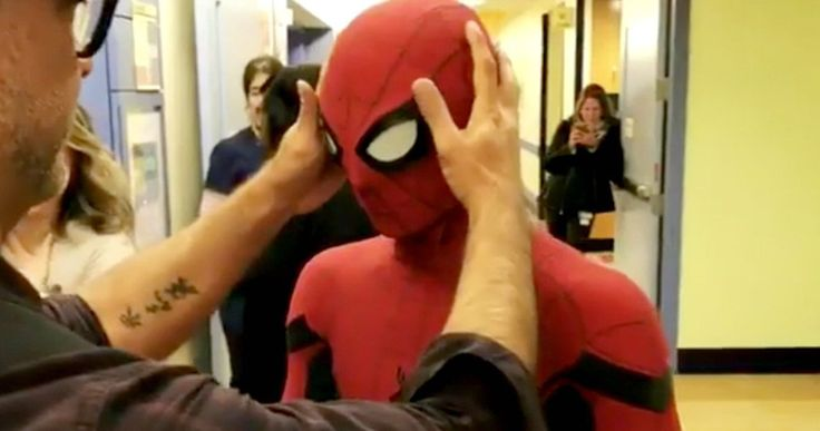 Spider-Man: Homecoming Cast Surprise Kids at a New York Hospital -- Spider-Man: Homecoming stars Zendaya and Jacob Batalon are on hand as Tom Holland surprises a young fan at the New York Presbyterian Hospital. -- http://movieweb.com/spider-man-homecoming-cast-new-york-kids-hospital/