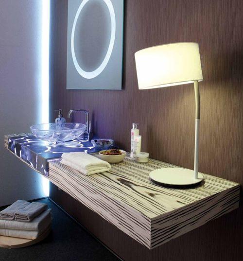 Transparent Countertops in Alabaster by Masto Fiore: Bathroom Design, Bathroom Interior, Half Transparents, Recycled Countertops, Interiors Design, Alkemi Countertops, Hands Mad Countertops, Bath Countertops, Transparents Countertops