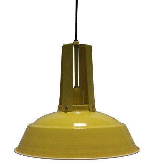 Light & Living Hanglamp Inez Geel - Ø 34 cm