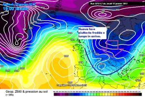 Meteo in Stand-by: ma da domani maltempo, freddo e neve! - Fase fredda in arrivo. Fonte: meteociel