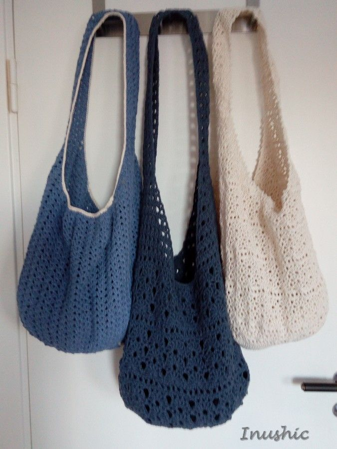 crochet boho bag 100% cotton